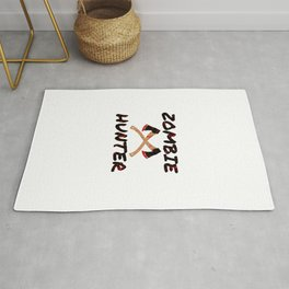 Zombie Hunter - Horror Infects Undead Blood Stain Rug