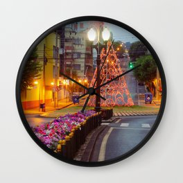 Morning lights and colors Wall Clock