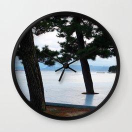 Japanese Cedar Trees Wall Clock