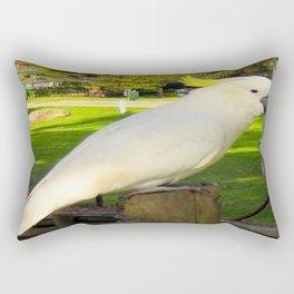 Yellow Crested Cockatoo Rectangular Pillow