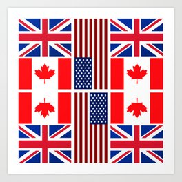 ABC Three Flags Art Print