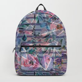 Abstract hand painted geometrical watercolor floral Backpack