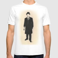 The Old One Percent  Mens Fitted Tee MEDIUM White
