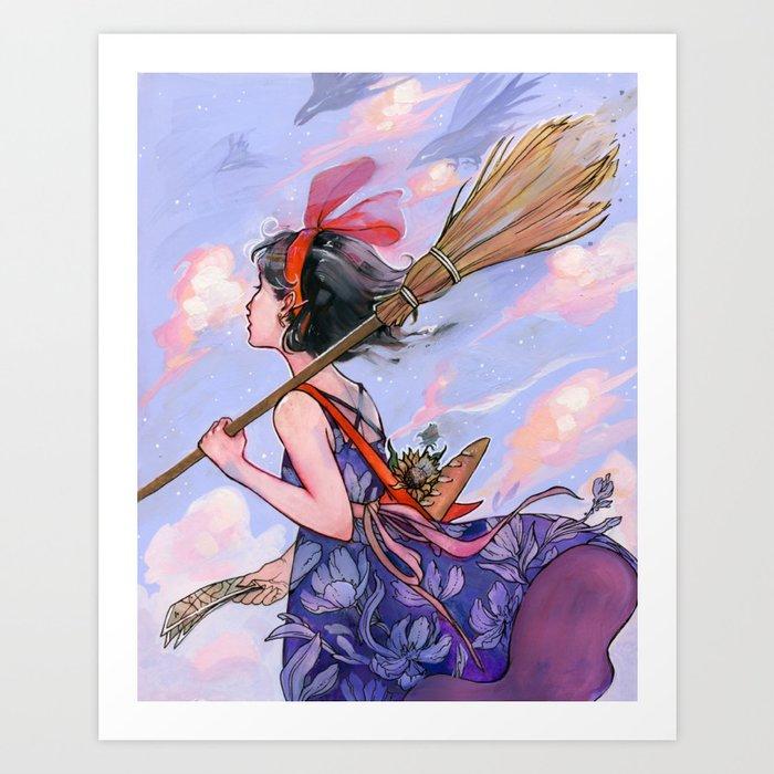 Windy Witch Kunstdrucke