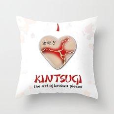 i love kintsugi Throw Pillow