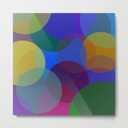 Circulos de colores Metal Print