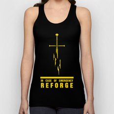 In case of emergency reforge Unisex Tank Top