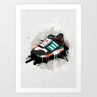sneaker Art Prints featuring Sneaker by Nicu Balan