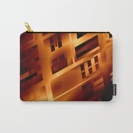 Abstract 379 Orange Geometric Windows Carry-All Pouch