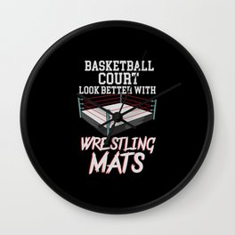 Basketball Courts Look Better With Wrestling Mats Wall Clock
