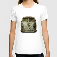 vw bus T-shirts featuring VW Micro Bus  by BruceStanfieldArtist illustrator
