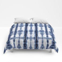 Tiki Shibori Blue Comforters