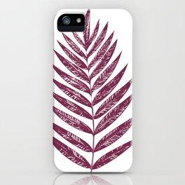 Simple Botanical Design in Dark Plum iPhone Case