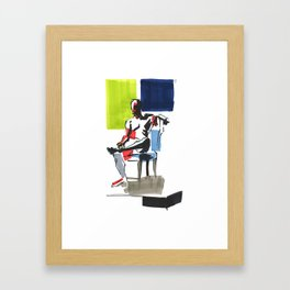 Seated Man Framed Art Print