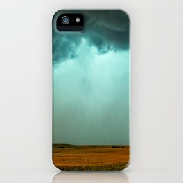 Open the Heavens - Panoramic Storm with Teal Hue in Northern Oklahoma iPhone Case