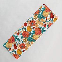 Vintage flower garden Yoga Mat