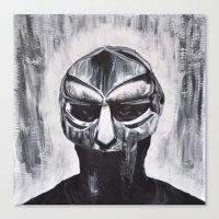 mf doom Canvas Prints featuring MF DOOM by Lindsay Derer
