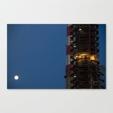Working with the moon Canvas Print