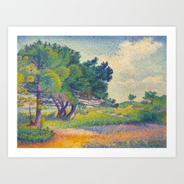 Small House at Saint Clair 1894 Henri-Edmond Cross Neo-Impressionism Pointillism Oil Painting Art Print