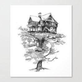 Hogar Sostenido/Supported Home Canvas Print