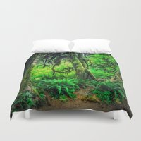 giants Duvet Covers featuring Mossy Giants by JMcCool