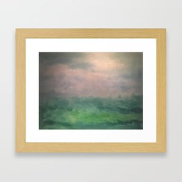 Valley of Dreams - Abstract nature Framed Art Print