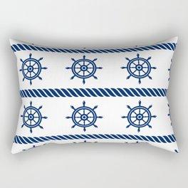 Blue Sea Rope Navy Pattern Rectangular Pillow
