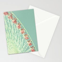 Nursery ferris wheel over mint pastel sky Stationery Cards