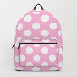White polkadots dots polkadot circles on pink #Society6 Backpack