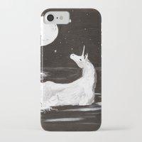 the last unicorn iPhone & iPod Cases featuring The Last Unicorn by Alexandra Sutherland