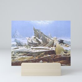 The Sea of Ice - Caspar David Friedrich Mini Art Print