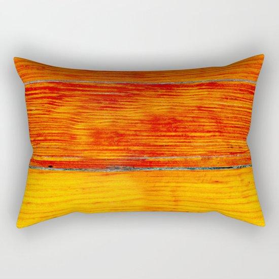 ORange wood Rectangular Pillow