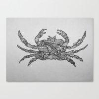 crab Canvas Prints featuring Crab by Larissa