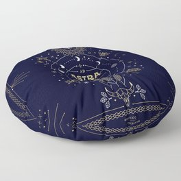 Ad Astra Per Aspera Floor Pillow