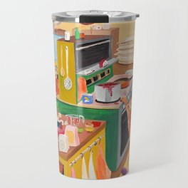 A Cat in the Kitchen Travel Mug