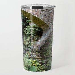 A Stone Arch Decorates the Garden Travel Mug