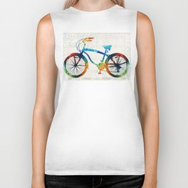 Colorful Bike Art - Free Spirit - By Sharon Cummings Biker Tank