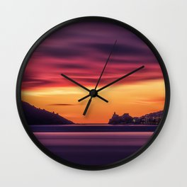 Sunset over the Gulf of Poets, Italy Wall Clock