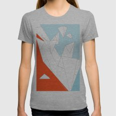 paperwings Womens Fitted Tee Athletic Grey SMALL