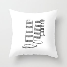 Montreal - Cones oranges - Black Throw Pillow