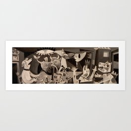 Guernicur (or Curnica) Art Print