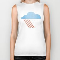 patriotic Biker Tanks featuring Patriotic Weather. by Nick Nelson