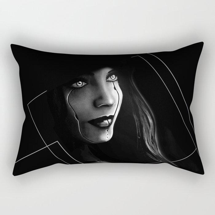 Cyborg Beauty Rectangular Pillow
