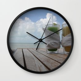 Heaven on a hot summer day..  Wall Clock