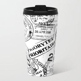 Passport Black Metal Travel Mug