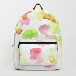 170722 Colour Living 16  Modern Watercolor Art   Abstract Watercolors Backpack