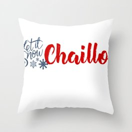 Chaillol and Winter Sports Throw Pillow
