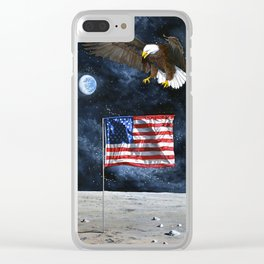The Eagle Returns Clear iPhone Case