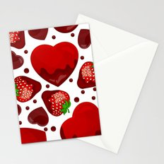 Chocolate heart Stationery Cards