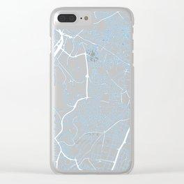 Street MAP Johannesburg // Blue Clear iPhone Case